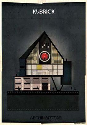 "Federico Babina - from series ""Archidirectors"" - Kubrick -  http://federicobabina.com/"