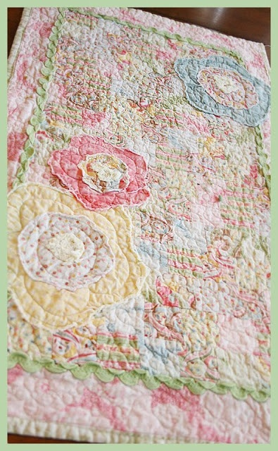 Fresh Poppy Design Quilt Patterns: Spring quilted runner....