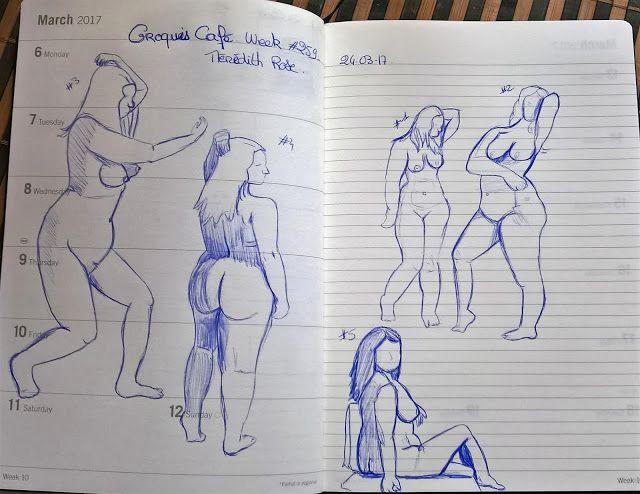 armonyann: dessins au bic: mes premiers nu avec croquis café