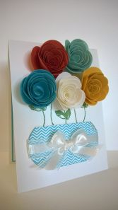 Mother's Day card using the Spiral Flower Bigz die from Stampin Up! www.myblossomdesigns.wordpress.com