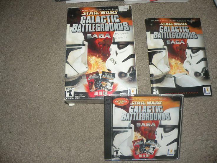 Star Wars: Galactic Battlegrounds Saga (PC, 2002) Complete #starwars #retro #gamersunite