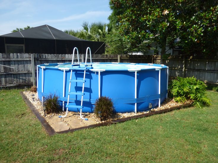 Best 20 Above Ground Pool Landscaping Ideas On Pinterest
