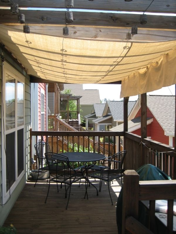 drop cloth awning for front porch ceiling by JDuree