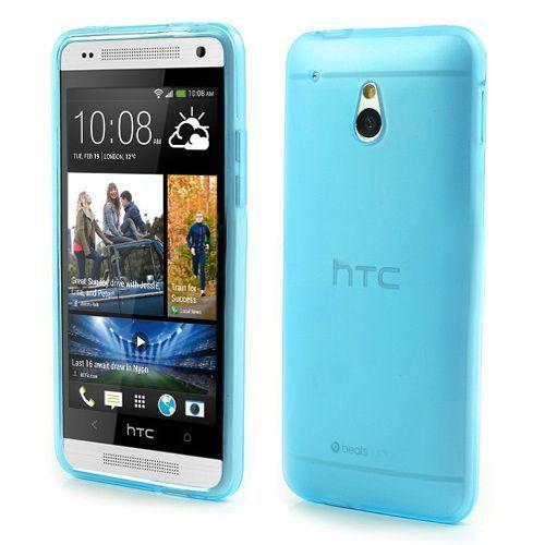 Blauw/transparant mat TPU hoesje voor de HTC One mini