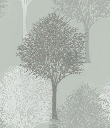 Harlequin Entice Grey / White / Duck Egg Wallpaper main image