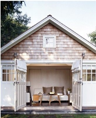 old garage, new outdoor room