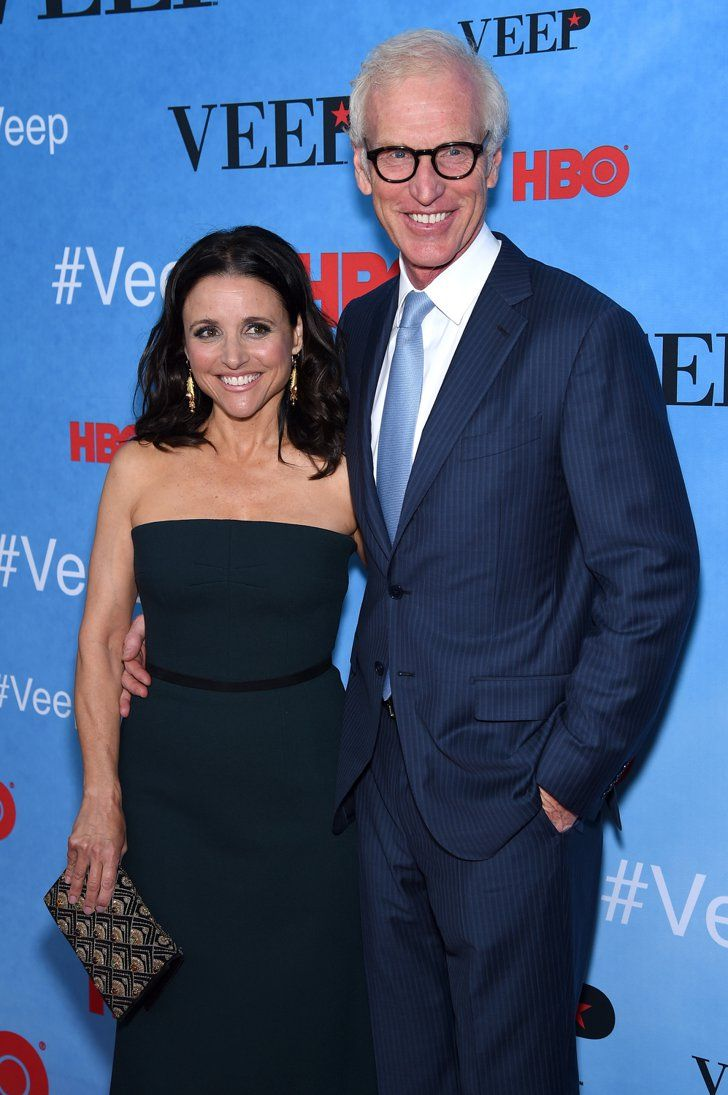 Pin for Later: Can't-Miss Celebrity Pics!  Julia Louis-Dreyfus had the support of husband Brad Hall at the Veep screening in NYC on Monday.