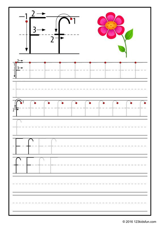Free Tracing Worksheet For Kids Flower Education Craft And