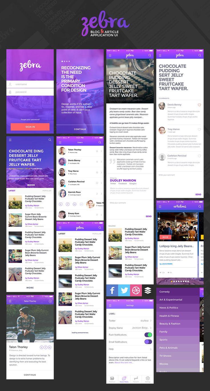 Zebra-App-UI / Blog and Article App UI