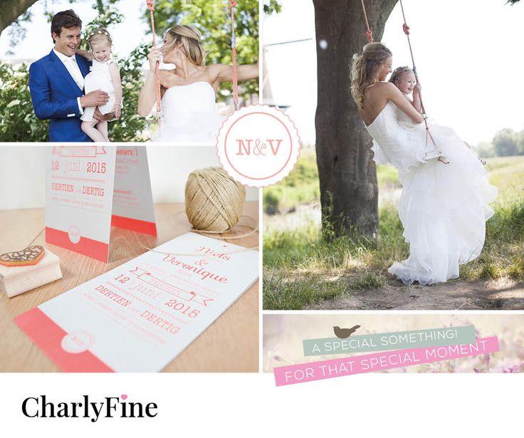 Mooi trouwkaartje #special day #wedding #trouwen www.charlyfine.nl