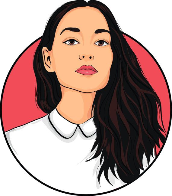 Digital portrait Vector  Custom Order by ImagineArtForYou on Etsy