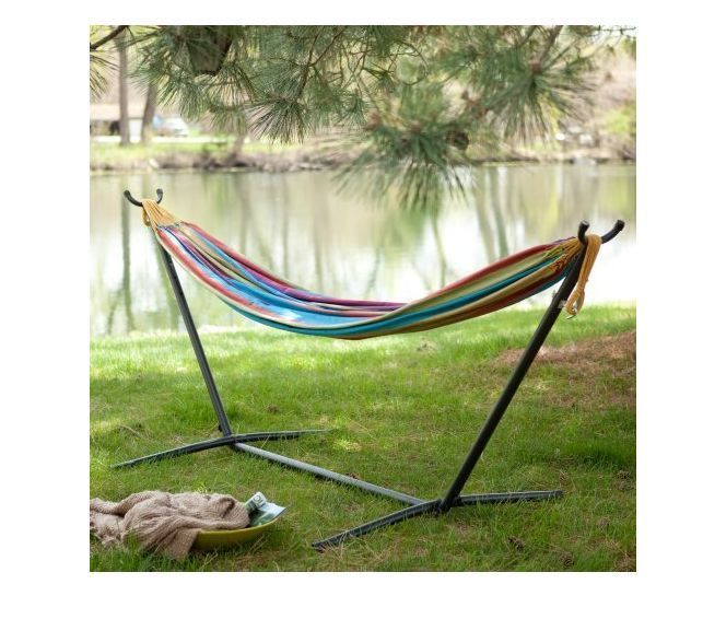 Double Hammock Stand Outdoor Person Camping Steel Size Portable Swing  Cotton #Vivere - Best 25+ Double Hammock With Stand Ideas On Pinterest Hammock