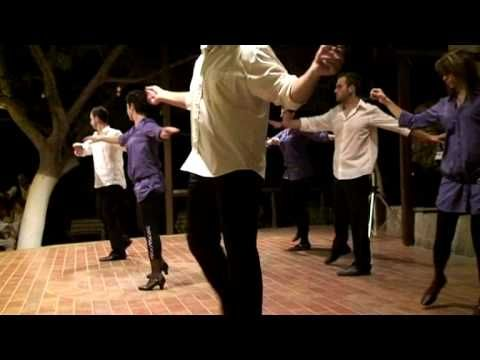 Grèce Crète le Syrtakis la danse de Zorba le Grec (dance of the Zorba th...