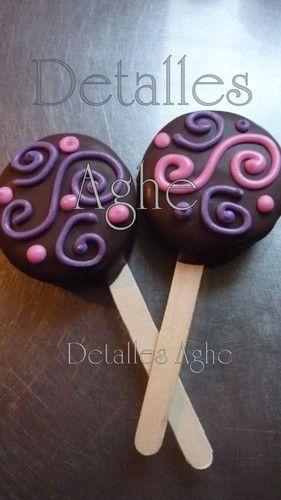 alfajores de chocolate decorados - Buscar con Google