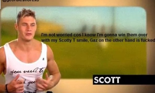Geordie shore. Geordie shore quote. Scotty t. Gaz