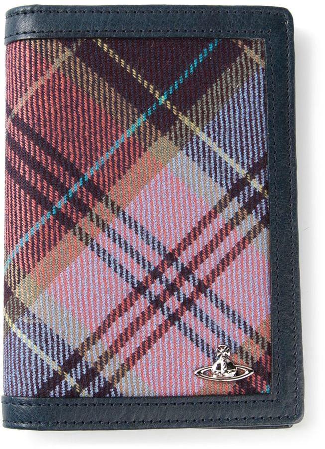 VIVIENNE WESTWOOD multicoloured tartan insert wallet