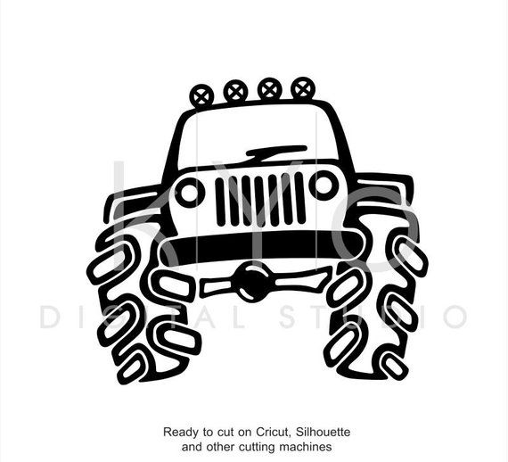 jeep off road big 4x4 truck hand draw svg dxf eps ai files for 2013 Jeep Wrangler Pick Up jeep wrangler filing silhouette studio silhouette cameo eps vector 4x4 trucks cricut explore how
