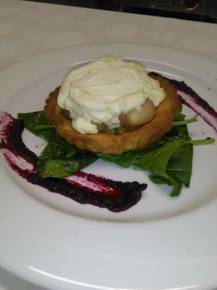 Ardsallagh Goats Cheese and Pickled Shallot Tart #Vegetarian