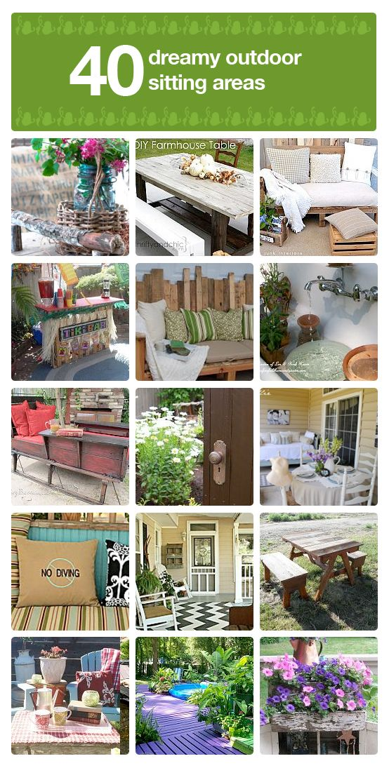 Planning for the spring? Here are 40+ dreamy ideas for outdoor seating.