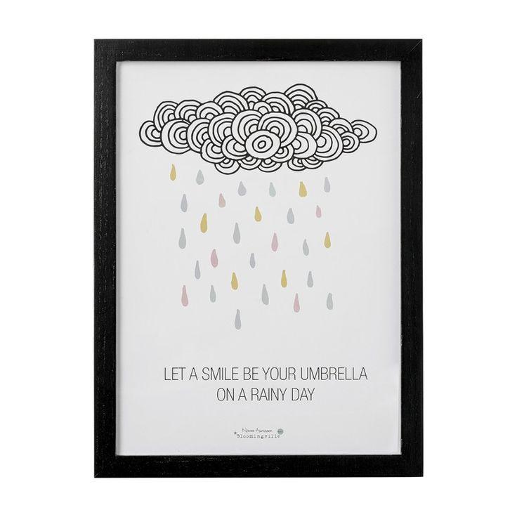 Rahmen mit Poster, Wolke, Bloomingville