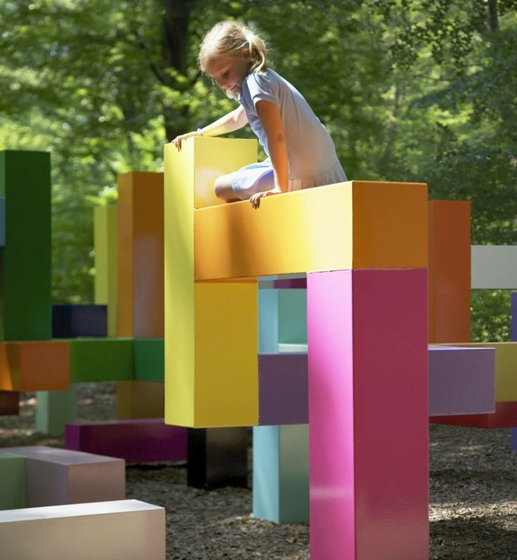 bright abstract jungle gym