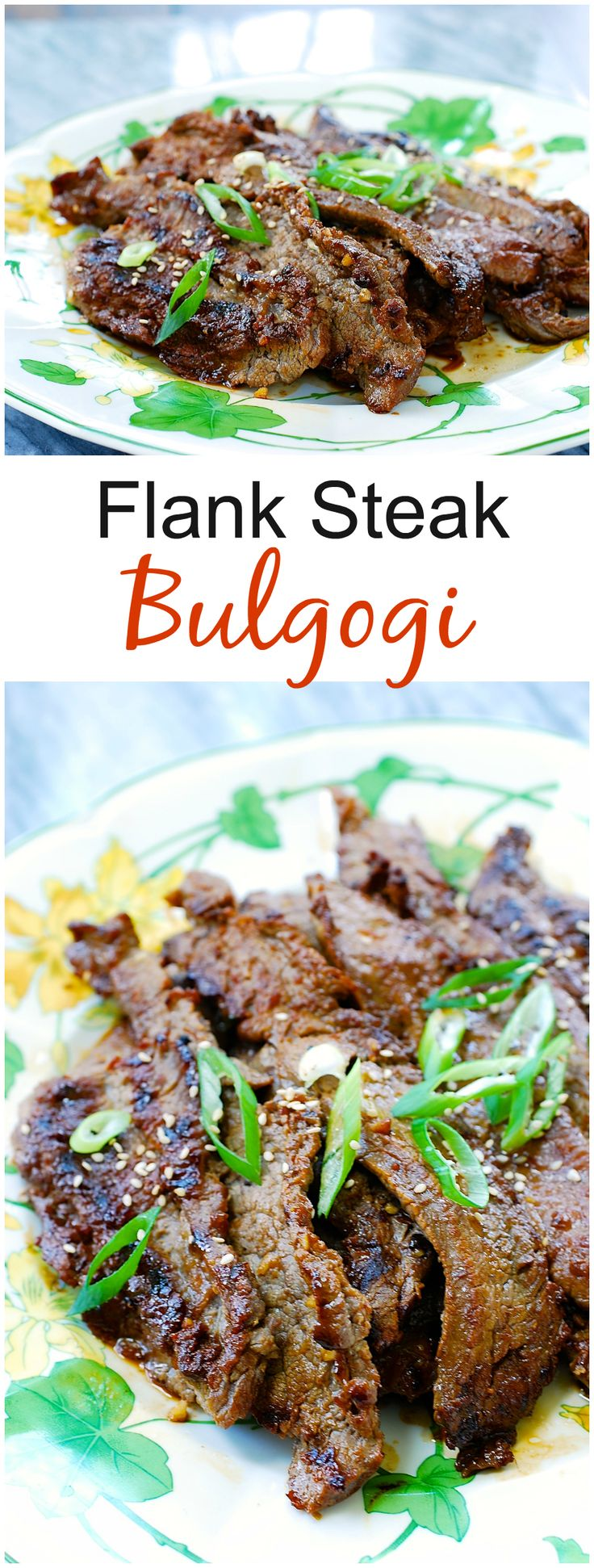Bulgogi made with flank steak - a nice variation from the classic version!