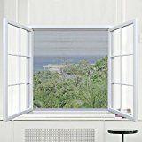 Rabbitgoo® Moustiquaire Standard pour Fenêtre Anti Insectes avec Crochet et Boucle Auto-Adhésif Rideaux Anti Moustique