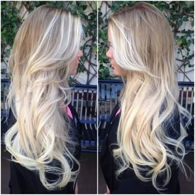 bleach blonde to blonde ombre - Google Search