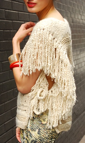 Isabel Marant angora sweater with fringe. (lust-have)