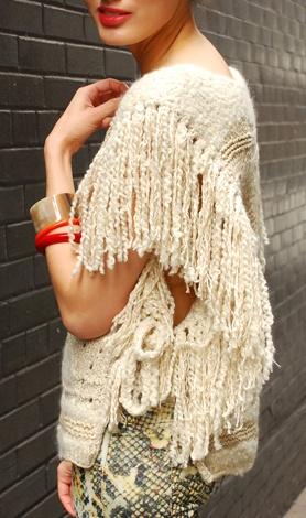 Isabel Marant angora sweater with fringe. (lust-have)