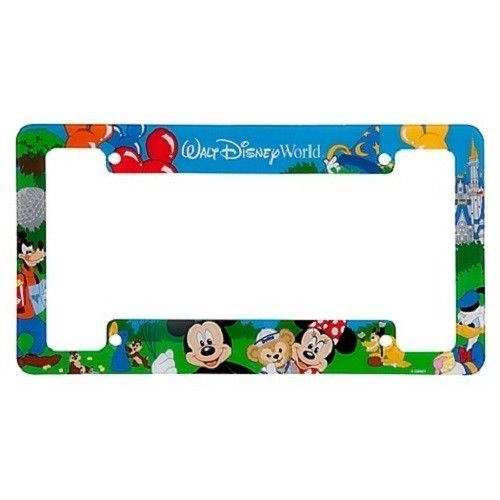 Mouse over image to zoom  Have one to sell? Sell it yourself  Walt Disney World Resort Mickey Duffy Storybook Park Car License Plate Frame $17.95