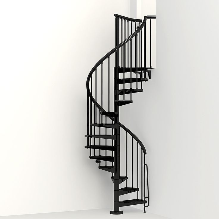 Best Arke Eureka 47 In X 10 Ft Black Spiral Staircase Kit 640 x 480