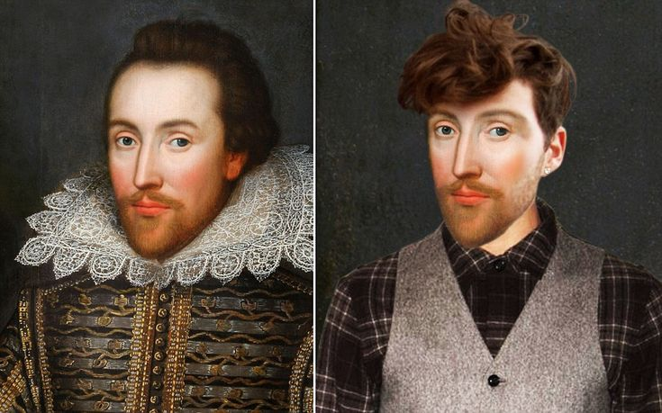 """What Shakespeare might have looked like today: a modern-day playwright, a  """"daring and forward thinking hipster"""""""
