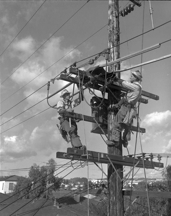 old electric lineman pics - Google Search