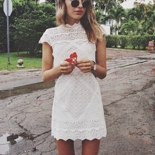 Sonya Esman White lace dress