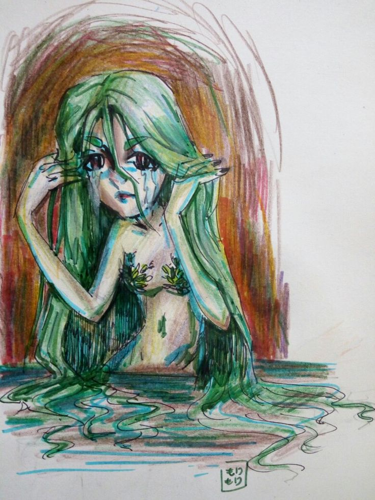 Eh #art #mermeid #green #sketch #sketchbook