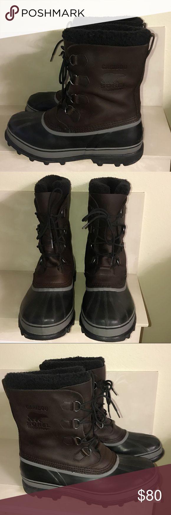 Authentic Sorel Caribou boots men's size 15 Very Good condition Authentic Sorel Caribou boots men's size 15 light wear Sorel Shoes Boots