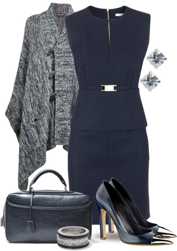 """Blue Poncho & Vuitton"" by yasminasdream on Polyvore"