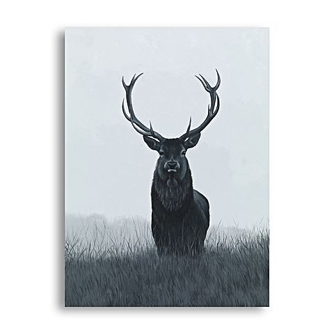 Bring a Scandinavian impact to your space with the brushstrokes across the Elk Canvas Art from The Print Emporium.