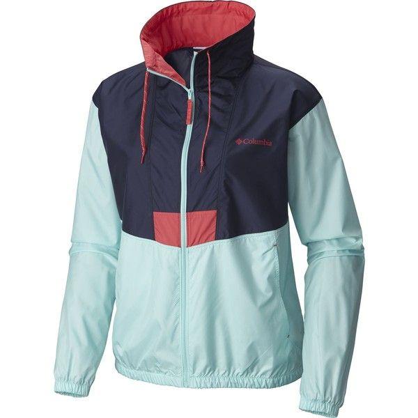 Columbia Flashback Windbreaker ($40) ❤ liked on Polyvore featuring activewear, activewear jackets, columbia, columbia sportswear and columbia activewear