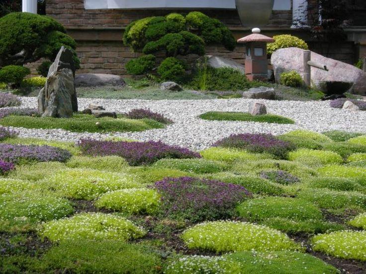 Steingarten Anlegen Pinterestissä  Garten,Kies ja Kiesbeet Anlegen