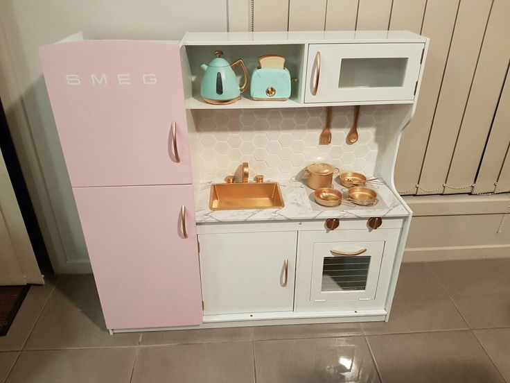 Kmart toy kitchen. Kmart hack. Toy kitchen renovation.