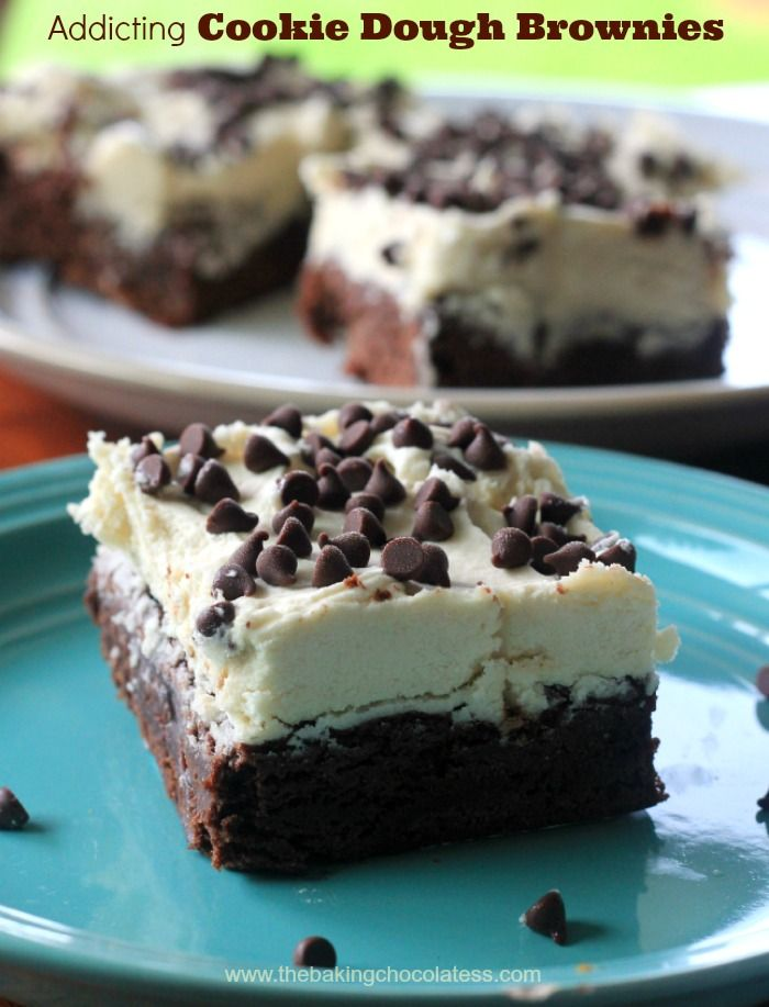 Chocolate Chip Cookie Dough Buttercream Brownies | Recipe ...