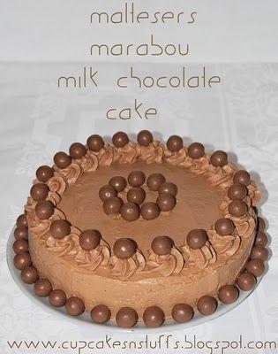 Cupcakes 'n' stuff!: Maltesers Marabou Milk Chocolate Cake