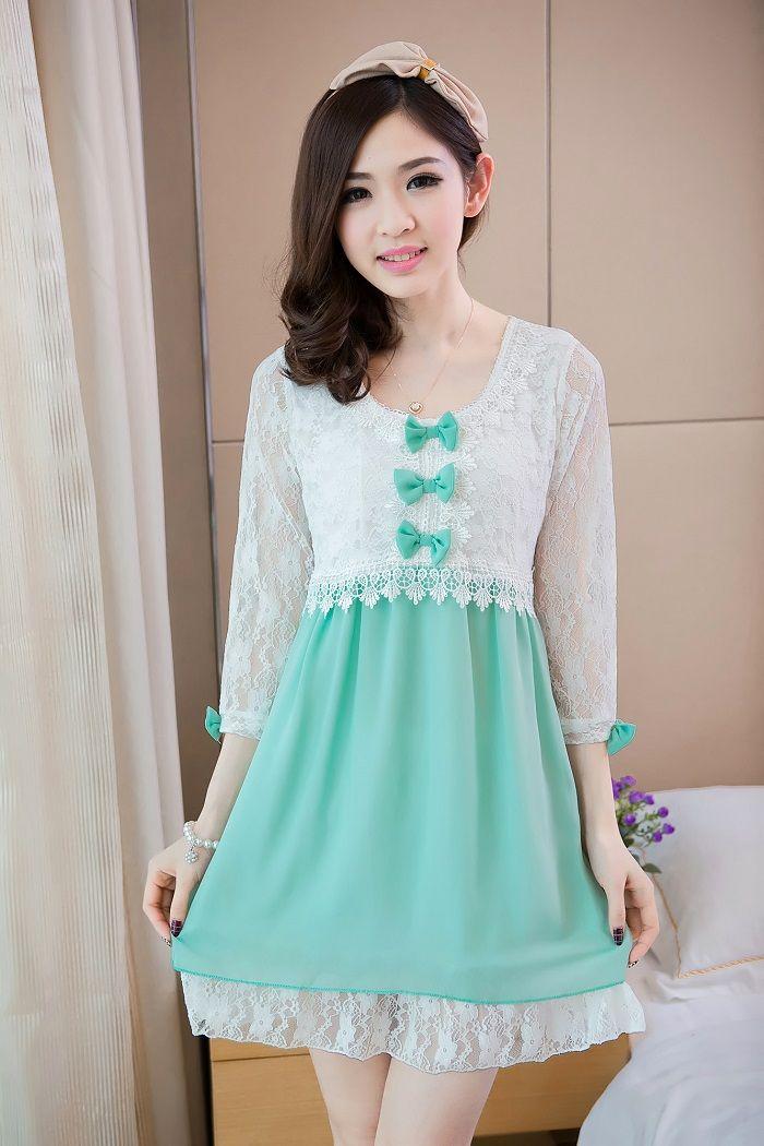 Kawaii Prom Dress with a Bow – fashion dresses
