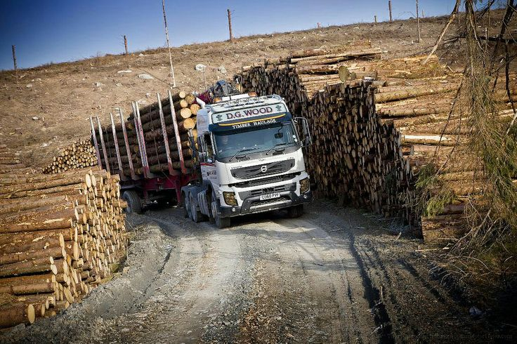 Volvo FMX 6x2 logging truck. #heavyhauling