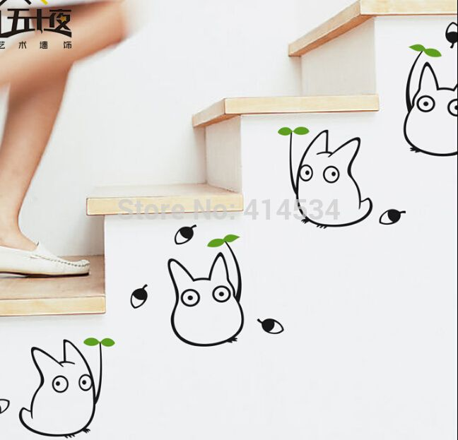 Hot-Decorative-Removable-Totoro-Wall-Stickers-Decal-for-Home-Stairs-Sticker-Decals-Black-Stickers-Chambre-Wall.jpg (648×623) http://amzn.to/2qWZ2qa