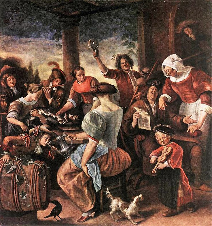 It's About Time: 1600s Garden Celebration Dutch by artist Jan Steen (1626-1569)