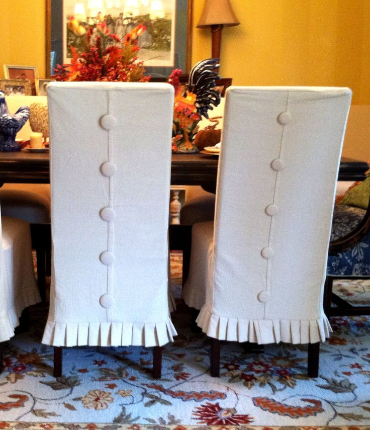 Best 25 chair slipcovers ideas on pinterest dining chair slipcovers slipcovers and chair - Shabby chic dining room chair covers ...