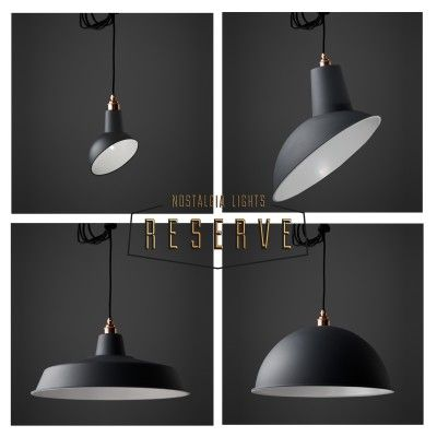 NL Reserve Pendant Shade Set in Matte Grey, from Nook